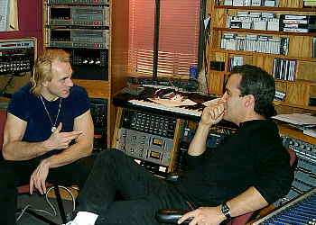 Trygve and Guy at the Golden studio