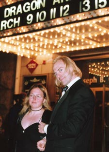 Trygve and Wendy at the premiere of Dragon and the Hawk