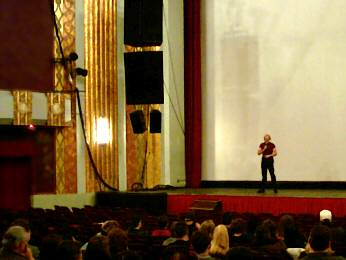 MCing at the Paramount