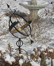 Armillary Sundial in the South Gardens