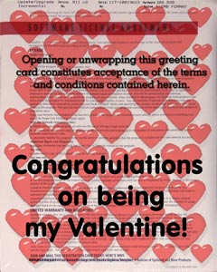Valentine License agreement